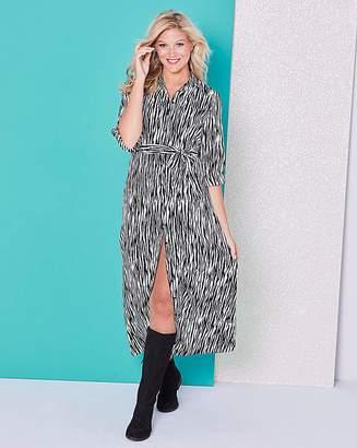dce516c6fd Simply Be Zebra Print Maxi Shirt Dress