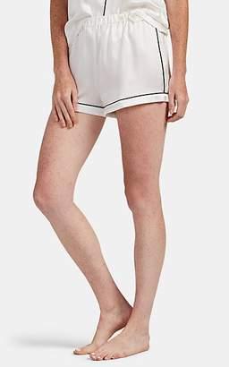 Morgan Lane Women's Fiona Silk Pajama Shorts - White