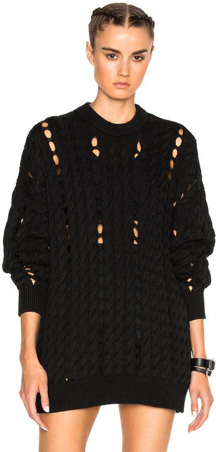 Alexander WangAlexander Wang Cable Knit Crewneck Sweater