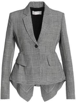 Antonio Berardi Checked Wool Linen And Silk-Blend Blazer