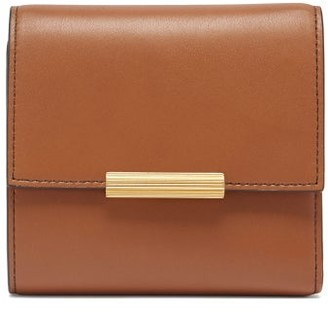 Bottega Veneta Mini Continental Leather Wallet - Womens - Tan