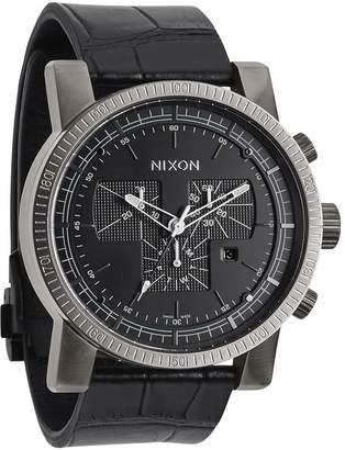 Nixon Men's Magnacon A4581886 Leather Swiss Quartz Watch