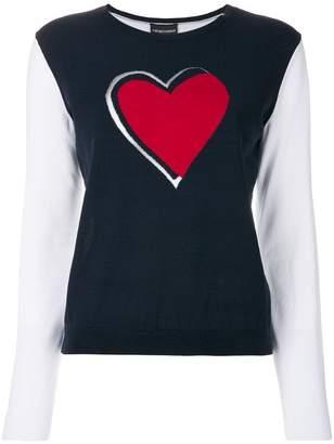 Emporio Armani heart sweater