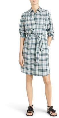 Burberry Agna Check Shirtdress