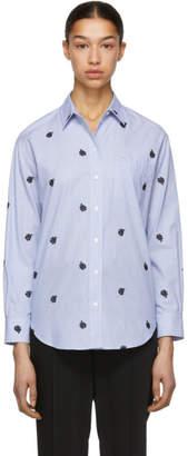 Kenzo Blue and White Roses Shirt