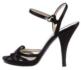 Miu Miu Satin Ankle Strap Sandals