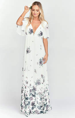 Show Me Your Mumu Faye Flutter Maxi Dress ~ Floral Falls