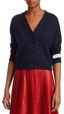 We11Done USA V-Neck Wool Cardigan
