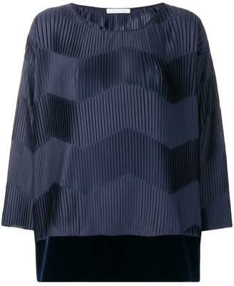 Stefano Mortari micro-pleated blouse