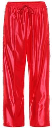 Sequin-embellished jersey trackpants