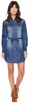 Wrangler Western Denim Shirt Dress Women's Dress