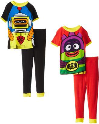 Nickelodeon Yo Gabba Gabba Little Boys' Costume 4-Piece Cotton Pajama Set, Multi