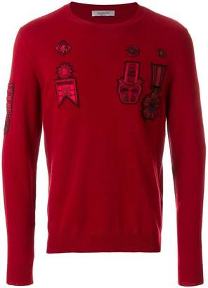 Valentino patch detailed jumper