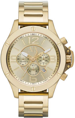 Armani Exchange Men's Chronograph Gold Ion-Plated Stainless Steel Bracelet Watch 48mm AX1504