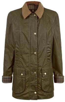 Barbour Waxed Beadnell Collared Coat