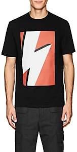 Neil Barrett Men's Bolt-Print Cotton T-Shirt - Black