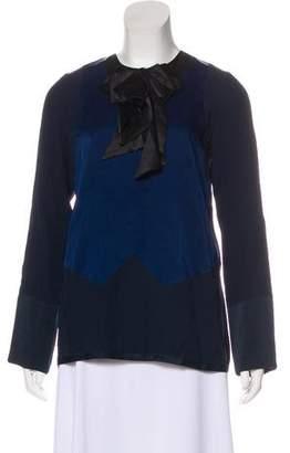Marc Jacobs Silk V-Neck Blouse
