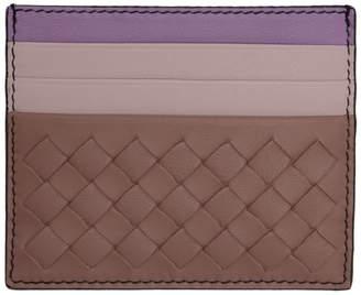 Bottega Veneta Pink and Purple Intrecciato Card Holder