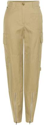 Helmut Lang High-rise cotton and linen blend cargo trousers