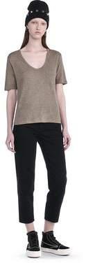 Alexander Wang Classic Cropped Short Sleeve Tee
