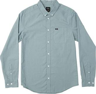 RVCA Men's That'll Do Oxford Long Sleeve Woven Shirt