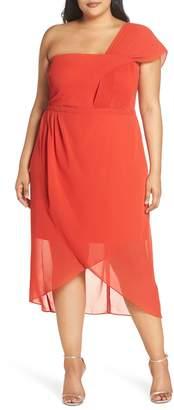 Cooper St Saffron One-Shoulder Chiffon Dress