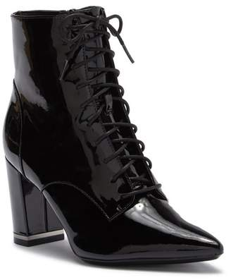 Calvin Klein Esma Patent Leather Lace Up Bootie