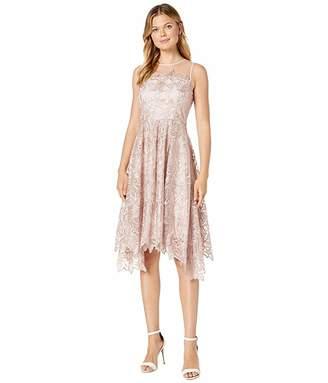 Tahari ASL Midi Length Novelty Embroidered Dress