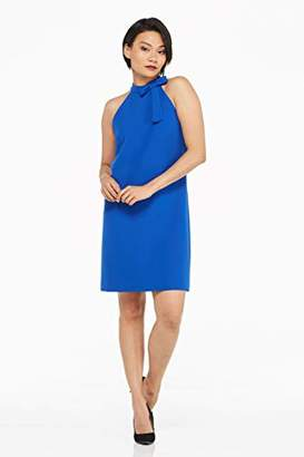 Maggy London Women's Petite Dream Crepe Solid Party Dress with Bow Neck