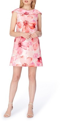 Women's Tahari Floral Mikado Shift Dress $134 thestylecure.com