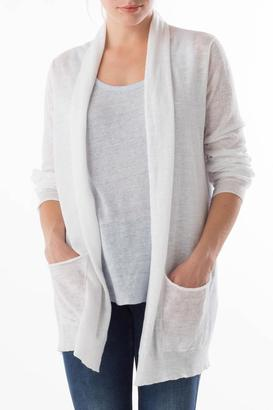 Margaret O'Leary Shirred Back Cardigan $195 thestylecure.com
