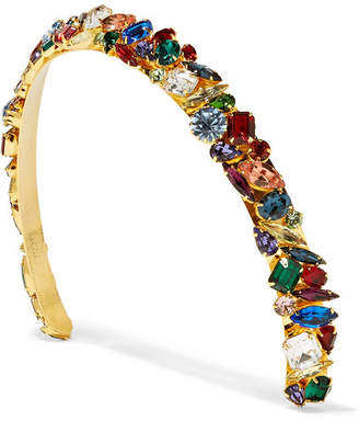 Swarovski LELET NY - Gold-plated Crystal Headband