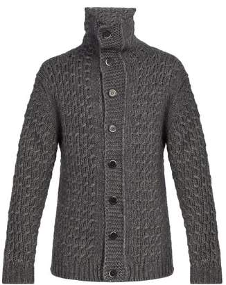 Barena Venezia - Maserada Cable Knit Wool Blend Cardigan - Mens - Grey
