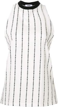 MSGM logo print striped vest