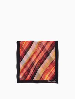 Calvin Klein diagonal brush chiffon scarf