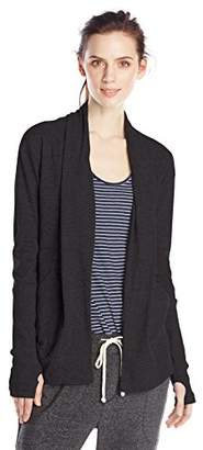 Alternative Women's Rib Sleeve Jersey Wrap Cardigan
