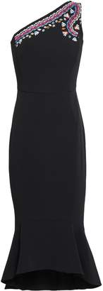 Peter Pilotto One-shoulder Embroidered Cady Midi Dress