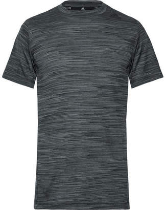 adidas Sport - Ultimate Tech Slim-Fit Melange Climalite T-Shirt - Gray