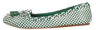Tory Burch Woven Square-Toe Loafers