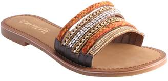 NOMAD Red Collection Leather One Band Slides Sandals - Mindil