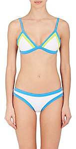 Milly WOMEN'S COLORBLOCK TRIANGLE BIKINI TOP