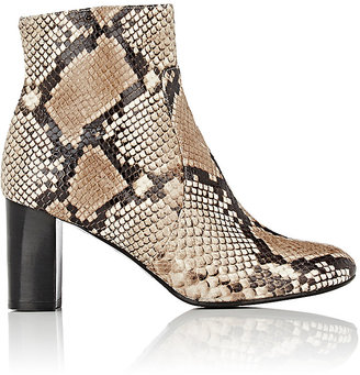 Barneys New York Women's Leather Side-Zip Ankle Boots $425 thestylecure.com