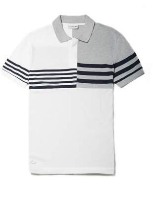 Lacoste Men's Regular Fit Mixed Stripes Petit Pique Polo