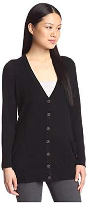 Cashmere Addiction Women's Slouch Pocket Cardigan Sweater