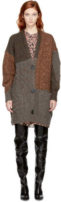 Etoile Isabel Marant Tan and Taupe Arty Cardigan
