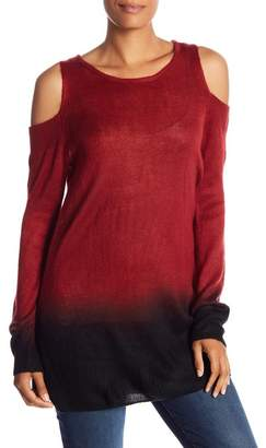 Vince Camuto Cold Shoulder Ombre Sweater