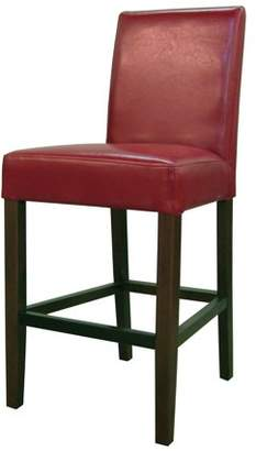 Hartford NPD Bonded Leather Counter Stool, Red