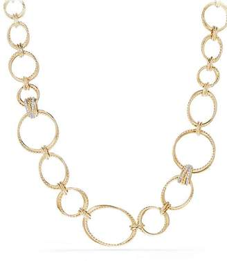 David Yurman Crossover Gold Convertible Statement Necklace with Diamonds