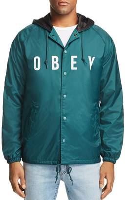 Obey Anyway Logo-Print Jacket