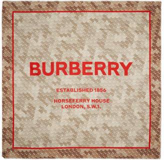 Burberry Beige Monogram Camo Square Scarf